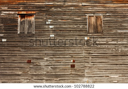 Texture of Asian style old wood house wall