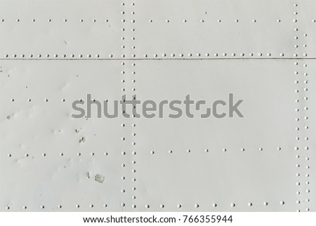 Texture of aviation rivets