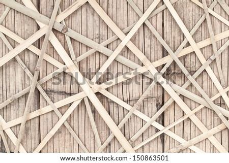 Texture of bamboo fence