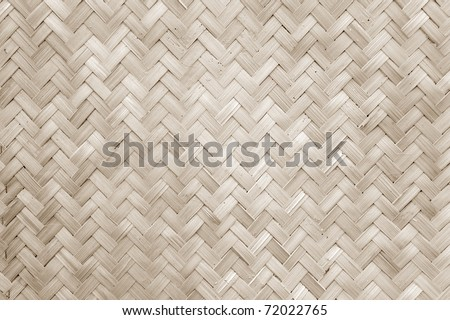 Texture of Bamboo Handicraft Detial