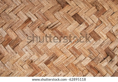 texture of bamboo hands weave