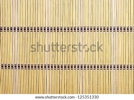 Texture of bamboo sticks with thread uniting