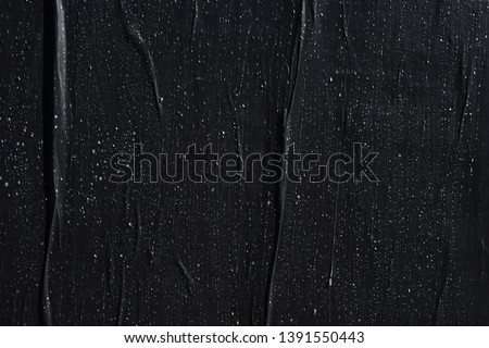 texture of black plastered wall poster, creative paper background idea