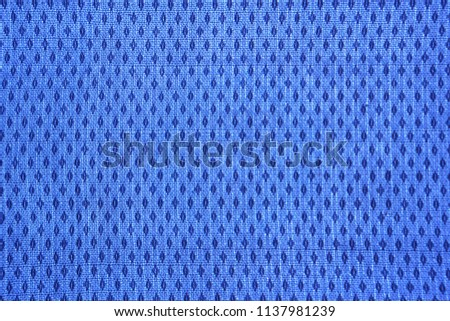 Texture of blue cotton fabric with a rhombus pattern #1137981239