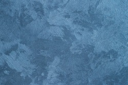 Texture of blue decorative plaster or concrete. Abstract background for design.