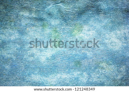 Texture of blue fabric background