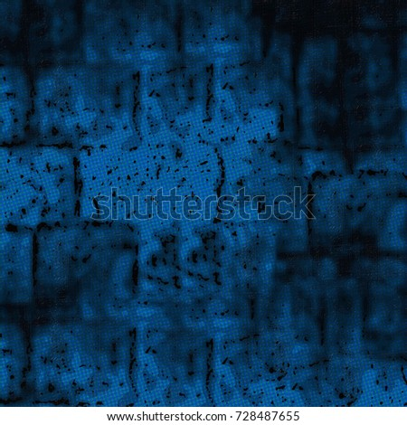 Texture of blue. Grunge background abstract. Spots of blue paint urban style wall. Pattern of colored futuristic #728487655