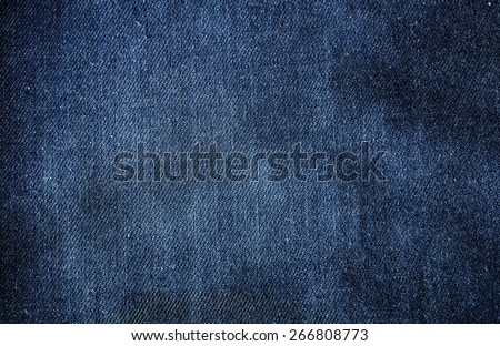 Texture of blue jeans for background