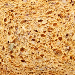 Texture of bread with big grains