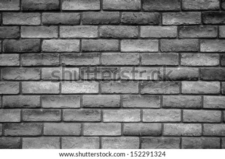Texture of brick wall in black and white tone