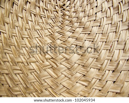 Texture of brown bamboo weave curve