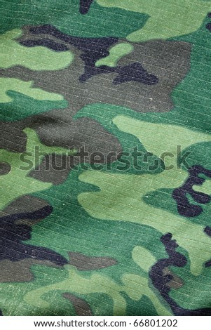 Texture of camouflage jacket