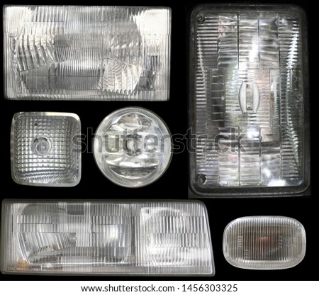 Texture of Car Headlight and motorcycle Headlight #1456303325