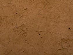 texture of clay wall from clay house