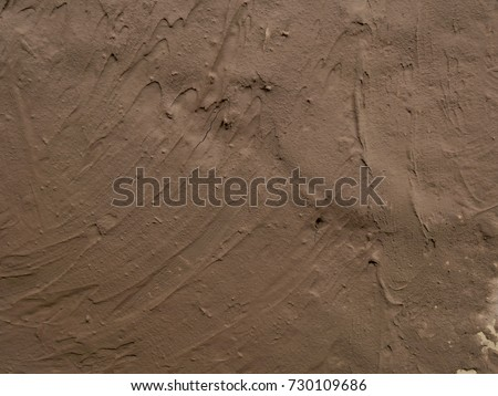 texture of clay wall from clay house for background