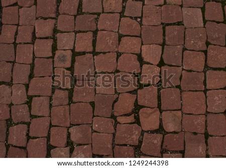 Texture of clinker bricks