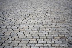 texture of cobblestone road, red square