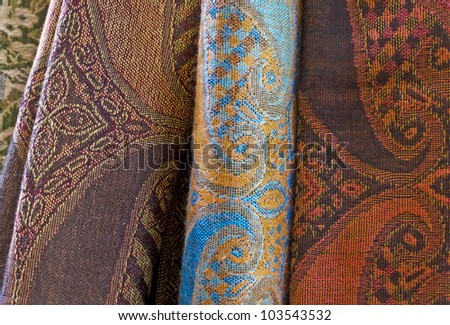 Texture of colorful clothes