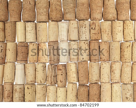 texture of cork stoppers
