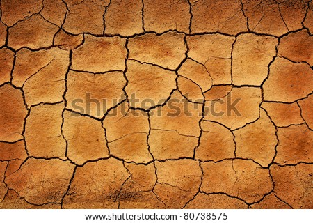 texture of cracked clay