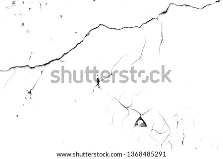Texture of cracked concrete. grunge background. Wall of cracked concrete. #1368485291