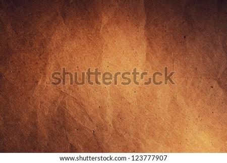 texture of crumpled brown paper. Dark, dramatic