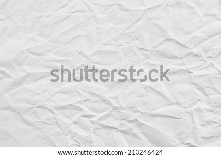 Texture of crumpled paper  background,