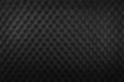 Texture of cushion sponge covered with black color fabric inside the shock proof laptop case.