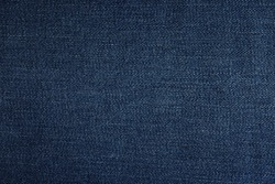 Texture of dark blue jeans as background, closeup