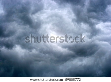 texture of dark storm clouds - stock photo