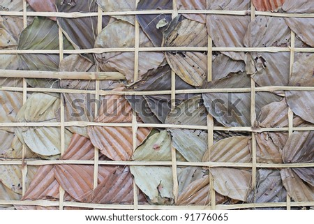texture of dried leaves wrapped by bamboo line,seamless pattern