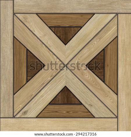 Texture of fine brown parquet. (High Res.)