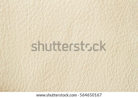 Texture of Genuine Leather cream color, background, surface.