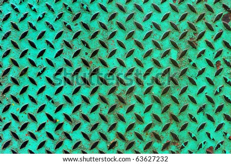 Texture of green metal plate
