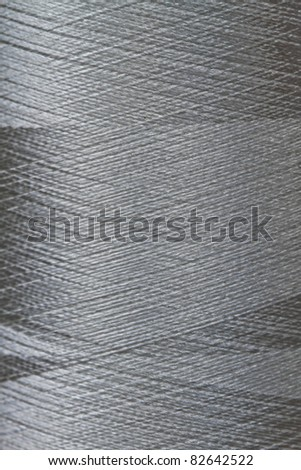 texture of grey thread in spool