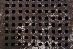 Texture of grid metal