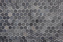 texture of hexagon gray tiles