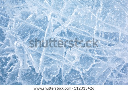 Texture of ice of Baikal lake in Siberia