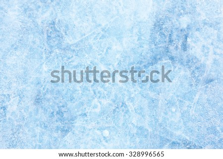 Texture of ice of Baikal lake in Siberia  #328996565