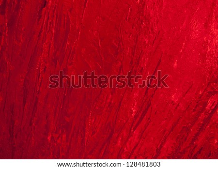 Texture of ice  with dark red back light. Abstract background.