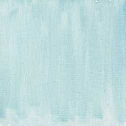 texture of light blue watercolor abstract on cotton canvas, self made