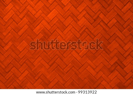 Texture Of Light Red Color Paint Weave Wall For Background