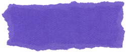 Texture of Majorelle blue fiber paper with torn edges. Isolated on white background.Scanned at 1600dpi using a professional scanner.