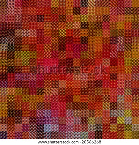 texture of many textile rags in warm colors