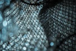 texture of metal fishing net durable