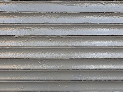 Texture of metallic painted gray blinds.