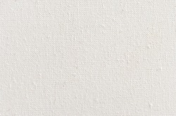 Texture of natural linen fabric. White canvas texture background. Natural linen.