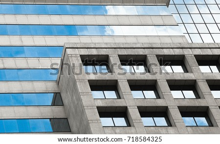 Texture of office bulding