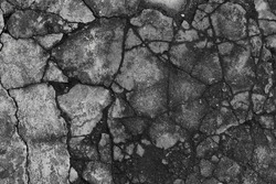 Texture of old cracked cement.