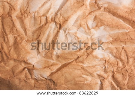 texture of old crumpled paper